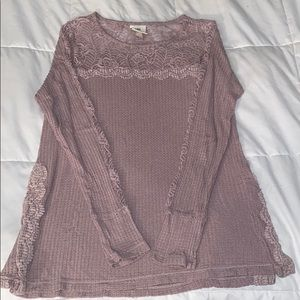 Knox Rose waffle knit lace sweater